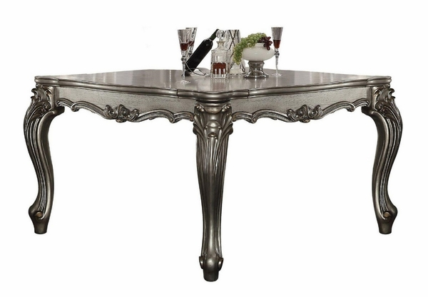 Versailles Antique Platinum Wood Counter Height Table by Acme