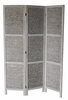 Zane Gray Arrow Woven 3-Panel Room Divider by Milton Greens Stars