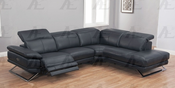 Ada 2Pc Black Power Recliner RAF Sectional by American Eagle Furniture