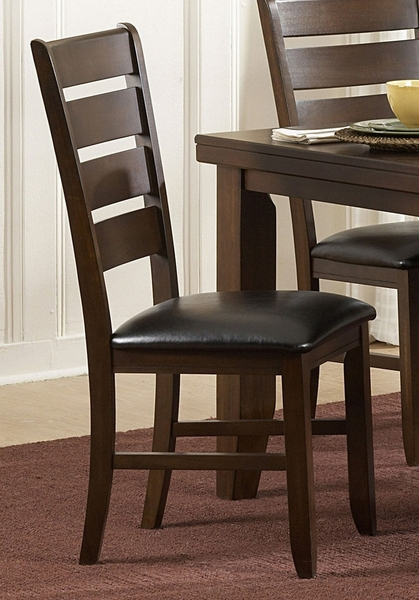Ameillia 2 Dark Oak Bi-Cast Vinyl Side Chairs by Homelegance