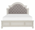 Baylesford Antique White Wood King Bed (Oversized) by Homelegance