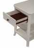 Baker White Wood Nightstand with 2 Open Shelves by Alpine Furniture