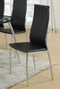 Raymonde 2 Black Faux Leather/Metal Side Chairs by Poundex