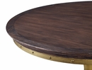 Alfie Rustic Pine Dining Table with Round Metal Base by TOV Furniture