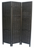Cole Black Wood 3-Panel Room Divider by Milton Greens Stars