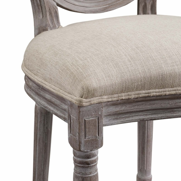 Arise Beige Fabric/Wood Side Chair by Modway