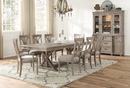 Cardano 2 Driftwood Light Brown Wood Arm Chairs by Homelegance