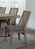 Codie 2 Neutral/Brown Burnishing Fabric Side Chairs by Homelegance