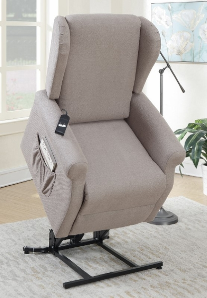 Rexana Grey Hygiene Fabric Power Recliner by Poundex