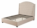 Ava Soap Diver Upholstered King Bed (Oversized) by Alpine Furniture
