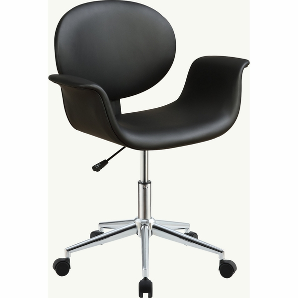 Camila Black PU Leather Office Chair with Gas Lift by Acme