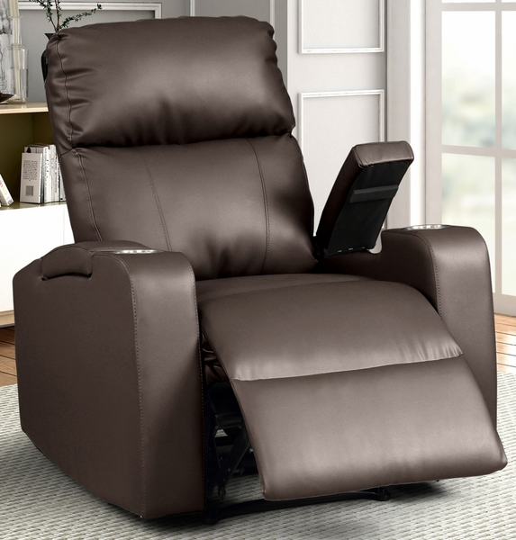 Terry Espresso Faux Leather Manual Recliner by AC Pacific