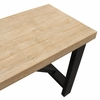 Cooper Washed Solid Pine Wood/Black Metal Bar Table by Diamond Sofa