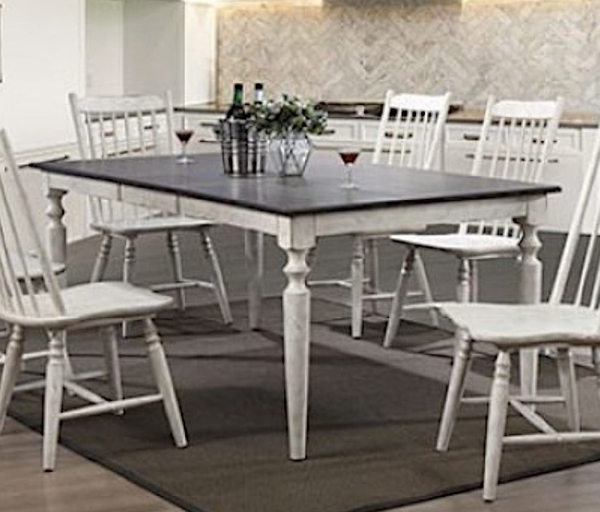 Ann Lee Antique White/Oak Wood Dining Table by Furniture of America