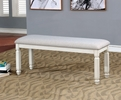Kaliyah Vintage White/Light Gray Fabric Bench by Furniture of America