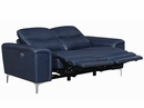 Largo 2-Pc Ink Blue Leather/Vinyl Power Recliner Sofa Set by Coaster