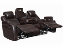 Korbach 2Pc Espresso Faux Leather 2xPower Recliner Sofa Set by Coaster