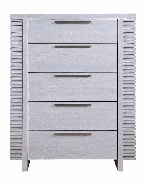 Aromas White Oak Wood Chest with Side Hidden Storage by Acme