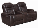 Korbach 3Pc Espresso Faux Leather 2xPower Recliner Sofa Set by Coaster