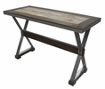 Country Dark Oak Marble/Wood Sofa Table by Best Master Furniture