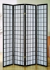 Dean Black Wood/Rice Paper 4-Panel Room Divider by Milton Greens Stars
