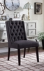 Newport 2 Charcoal Linen/Wood Side Chairs by Best Master Furniture