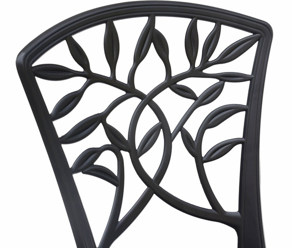 Courtnay 3-Pc Black Aluminum Bistro Table Set by Furniture of America