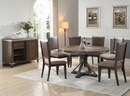 Country 2 Taupe Fabric/Wood Side Chairs by Best Master Furniture