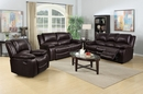 Callie Brown Leatherette Manual Recliner Sofa by Milton Greens Stars