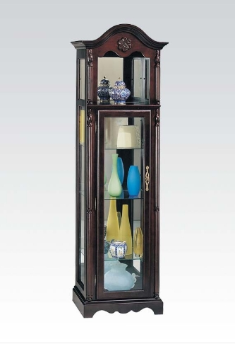Lindsey Cherry Wood/Glass Curio Cabinet by Acme