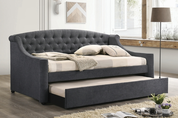 Penfield Grey Fabric Twin Daybed with Trundle by Coaster