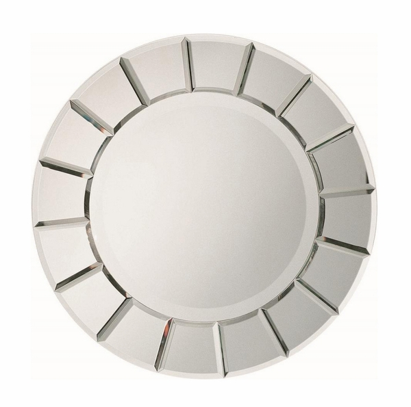 Cleto Sun Shape Clear Accent Mirror by Coaster