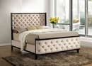 Chanelle Ivory Padded Fabric Full Bed by Furniture of America