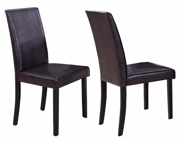 Melisa 2 Brown Faux Leather/Wood Side Chairs by Best Master Furniture
