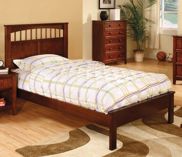 Carus Cherry Wood Full Bed by Furniture of America