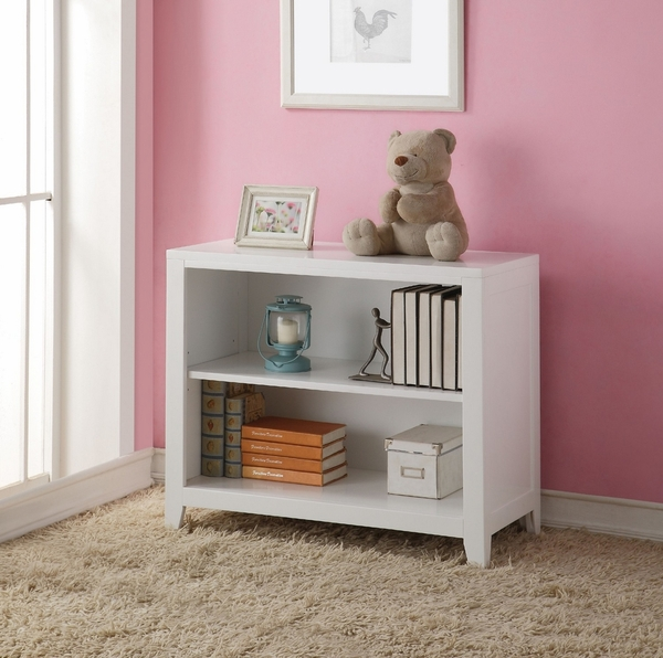 Lacey White Pine Wood Bookcase by Acme