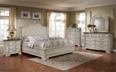 Angie Antique White Queen Bed (Oversized) by McFerran Home Furnishings