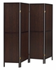 Tallie Rustic Tobacco Wood 4 Panel Folding Screen by Coaster