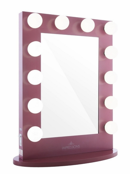 Hollywood Iconic XL Pink Frame Vanity Mirror by Impressions Vanity