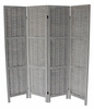 Cole Washed Gray 4-Panel Room Divider by Milton Greens Stars