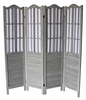 Dot Washed Gray Wood 4-Panel Room Divider by Milton Greens Stars