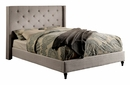 Anabelle Warm Gray Linen-Like Fabric Full Bed by Furniture of America
