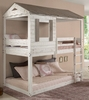 Darlene Rustic White Wood Twin over Twin Bunk Bed by Acme