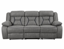 Houston 2-Pc Grey Faux Suede Manual Recliner Sofa Set by Coaster