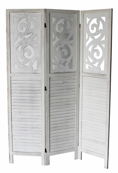 Grant Washed Gray 3-Panel Room Divider by Milton Greens Stars