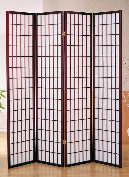 Dean Cherry Rice Paper 4-Panel Room Divider by Milton Greens Stars