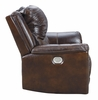 Signature Design Catanzaro Mahogany Leather Power Recliner by Ashley
