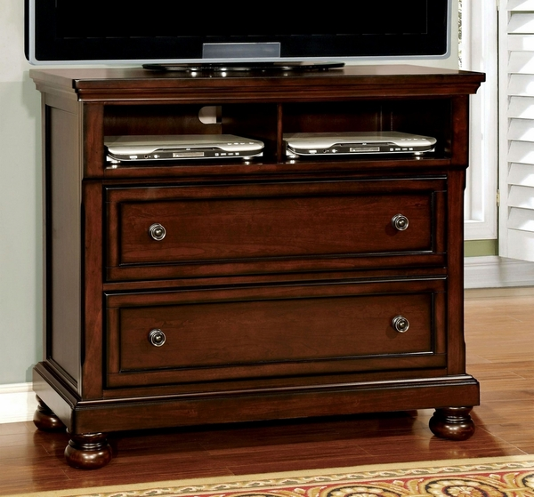 Northville Dark Cherry Wood Media Chest by Furniture of America