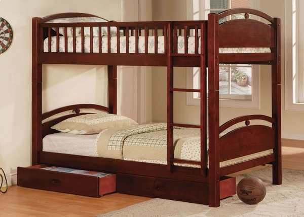 California I Twin/Twin Bunk Bed with 2 Drawers by Furniture of America