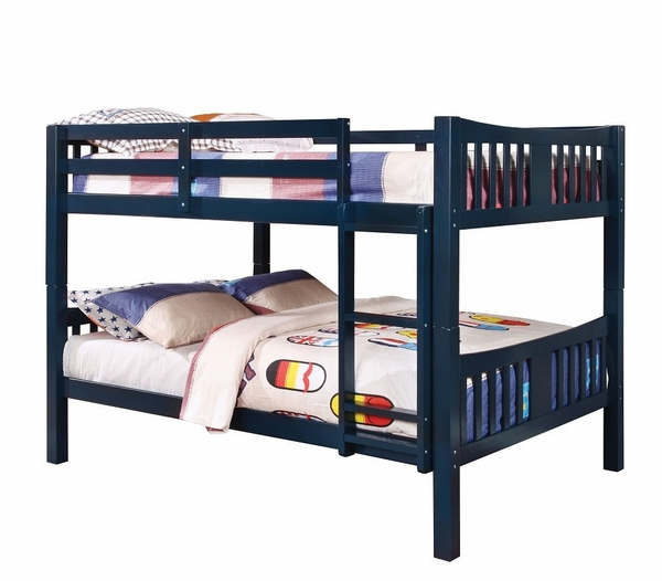 Cameron Blue Twin over Twin Bunk Bed by Furniture of America